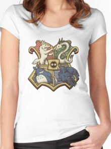 Ghibliwarts Crest Women's Fitted Scoop T-Shirt