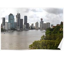 Brisbane City from Kangaroo Point Poster