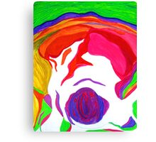 """"""" Psychedelic Brain Damage""""-Homage to Pink Floyd. Canvas Print"""