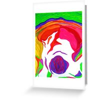""" Psychedelic Brain Damage""-Homage to Pink Floyd. Greeting Card"