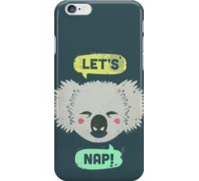 Sleepy Koala  iPhone Case/Skin