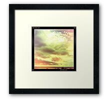 moody Skies Series- No.6 Framed Print