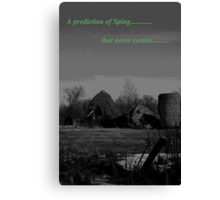 prediction of spring Canvas Print