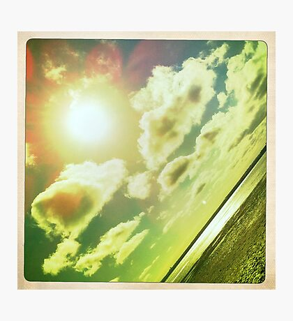 Sunshine through the clouds -  Series No.3 Photographic Print
