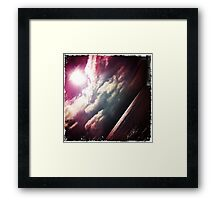 Sunshine through the clouds -  Series No.6 Framed Print