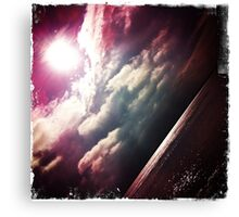 Sunshine through the clouds -  Series No.6 Canvas Print