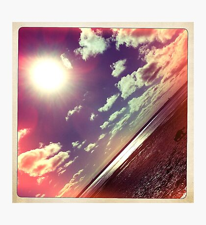 sunshine through the clouds -  Series No.7 Photographic Print
