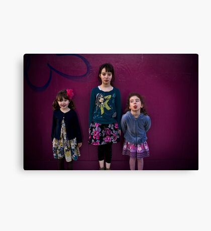 Here come the Girls... Canvas Print
