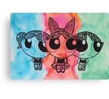 Zentangle Girls Canvas Print