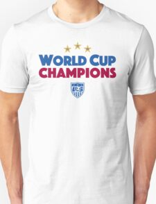 World Cup Champions USA Women's Soccer Team 4 T-Shirt