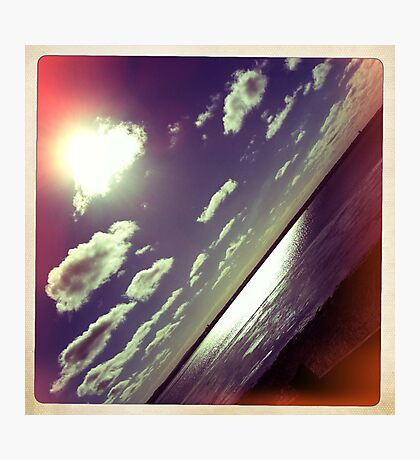 sunshine through the clouds -  Series No.9 Photographic Print