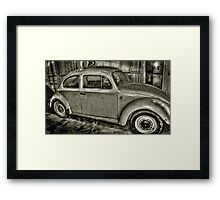 Beetle in a Shed..... Framed Print