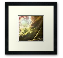 Sunshine through the clouds -  Series No.11 Framed Print