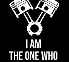 I'm the one who knocks - Engine Decal (Black) by harrison44