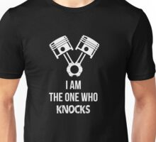 I'm the one who knocks - Engine Decal (Black) Unisex T-Shirt