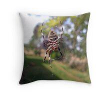 7 Legged Orb Weaver - Near Beechworth Throw Pillow