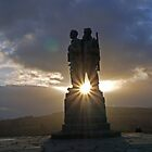 Commando War Memorial, Glengarry, Scotland by Brian Sharland