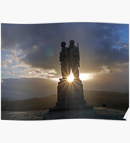 Commando War Memorial, Glengarry, Scotland Poster