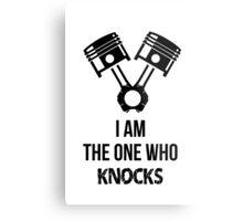 I'm the one who knocks - Engine Decal (White) Metal Print