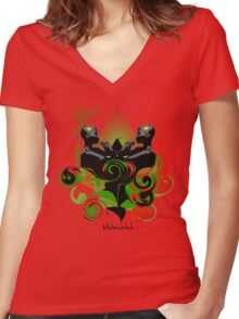 FACE TO FACE Women's Fitted V-Neck T-Shirt