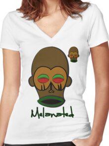 M'BUDU FACE Women's Fitted V-Neck T-Shirt