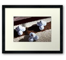 Golf Ball Pyramids Framed Print
