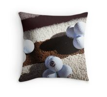 Golf Ball Pyramids Throw Pillow