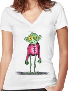 Alien T Women's Fitted V-Neck T-Shirt