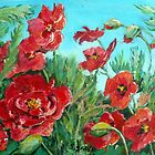 Windswept Wild Poppies by Saga Sabin