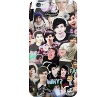 Dan and Phil Collage Print iPhone Case/Skin