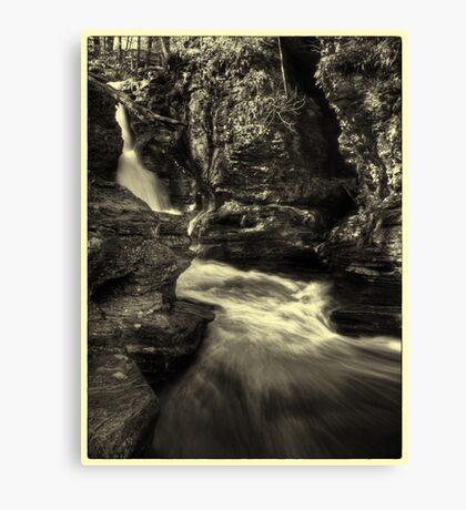 Adams Falls (faux vintage) Canvas Print