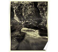 Adams Falls (faux vintage) Poster