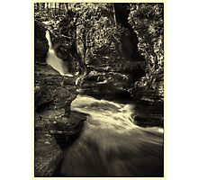 Adams Falls (faux vintage) Photographic Print