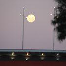 Moon Over the Bolte Bridge Melbourne by LJ_©BlaKbird Photography