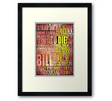 Kill Bill redux Framed Print