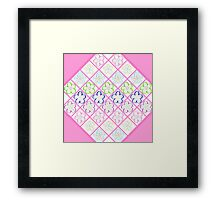 Freckled Flowers Quilt Framed Print