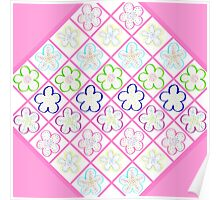 Freckled Flowers Quilt Poster