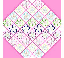 Freckled Flowers Quilt Photographic Print