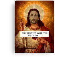 Jesus Adrien Brody Christ - Saintly Celeb Canvas Print