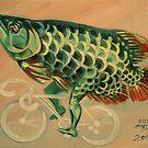 Dragon Fish on a Ghost Bike by Ellen Marcus