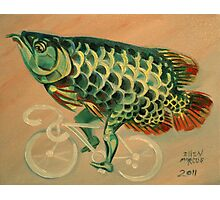 Dragon Fish on a Ghost Bike Photographic Print