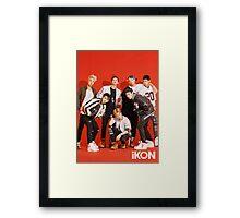 iKON my type poster Framed Print