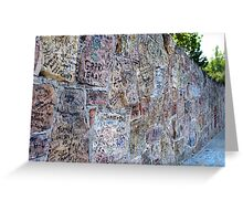 Autograph Wall Greeting Card