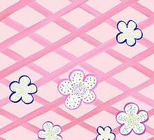 Baby Pink Flower Garden by Irina Sztukowski