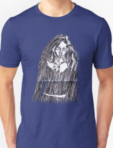 Scratchy-Etched Girl T-Shirt