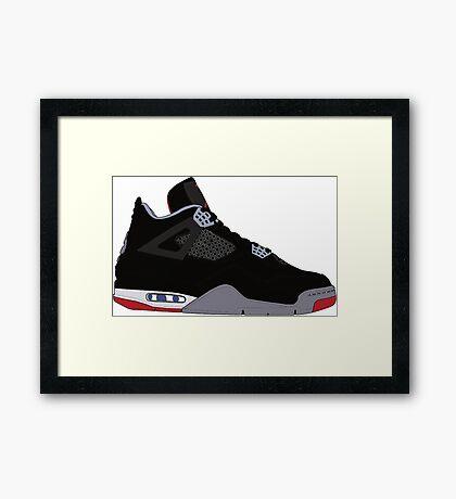"Air Jordan IV (4) ""Bred"" Framed Print"