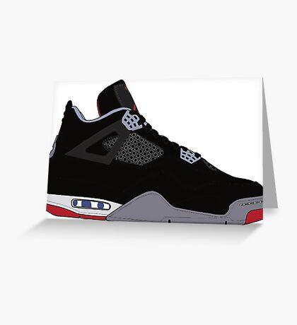 """Air Jordan IV (4) """"Bred"""" Greeting Card"""