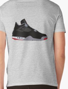 "Air Jordan IV (4) ""Bred"" Mens V-Neck T-Shirt"