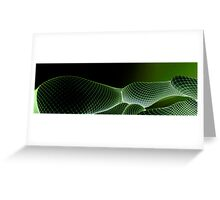 net neg green 6 Greeting Card