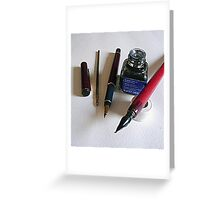 Pens....past and reality Greeting Card